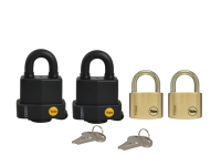 Yale Locks Multi-Purpose Padlock Set of 4 Keyed Alike