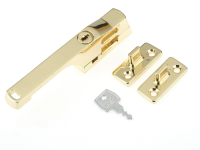 Yale Locks P115PB Lockable Window Handle Polished Brass Finish