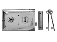 Yale Locks P334 Rim Lock Grey Finish 156 x 104mm Visi