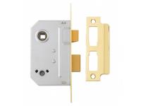 Yale Locks PM236 Bathroom 2 Lever Sashlock 67mm 2.5in Polished Brass