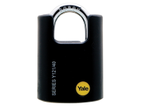 Yale Locks Y121 40mm Brass Padlock Closed Shackle