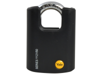 Yale Locks Y121 50mm Brass Padlock Closed Shackle