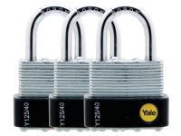 Yale Locks Y125 40mm Laminated Steel Padlock (3 Pack)
