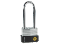 Yale Locks Y125 40mm Laminated Steel Padlock 63mm Shackle