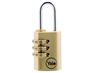 Yale Locks Y150 22mm Brass Combination Padlock