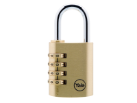 Yale Locks Y150 40mm Brass Combination Padlock