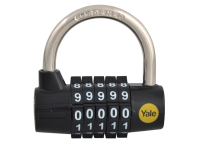 Yale Locks Y160 48mm Steel 5 Dial Combination Padlock