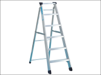Zarges Industrial Swingback Steps Open 0.85m Closed 0.97m 4 Rungs