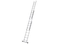 Zarges Triple Extension Ladder with Stabiliser Bar 3-Part D-Rungs 3 x 8