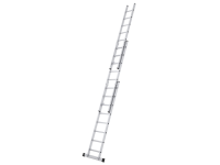 Zarges Triple Extension Ladder with Stabiliser Bar 3-Part D-Rungs 3 x 10