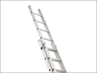 Zarges Industrial Extension Ladder 2-Part D Rungs 2 x 14