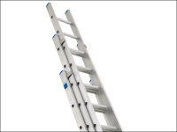 Zarges Industrial Extension Ladder 3-Part D Rungs 3 x 12